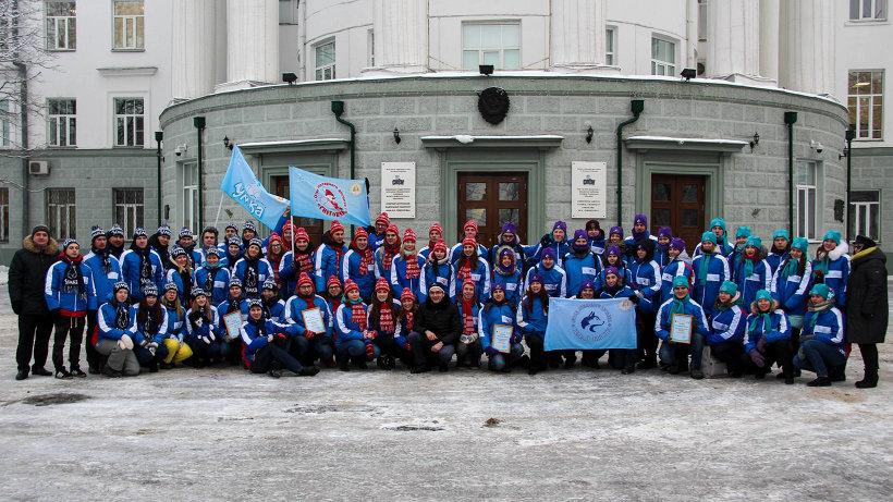 Торжественная отправка участников акции состоялась у главного здания САФУ