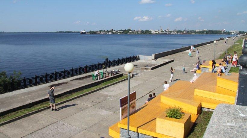 Набережная Северной Двины в Архангельске предстала в обновленным виде. Фото пресс-службы ГАУ АО «Молодежный центр»
