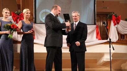 Почётный золотой знак «Достояние Севера» был вручён Павлу Балакшину