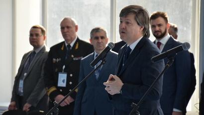 Руководитель Федерального агентства морского и речного транспорта Виктор Олерский поздравил курсантов и преподавателей