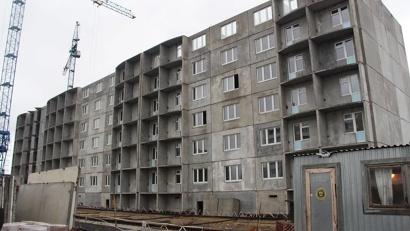 В Архангельске на Московском проспекте возводится четыре многоквартирных дома