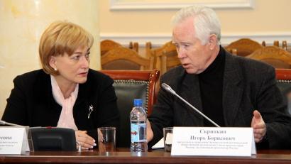 Члены совета Антонина Драчёва и Игорь Скрипкин