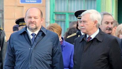 Врио губернатора Архангельской области Игорь Орлов и губернатор Санкт-Петербурга Георгий Полтавченко