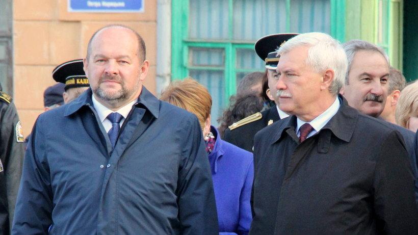 Врио губернатора Архангельской области Игорь Орлов и губернатор Санкт Петербурга Георгий Полтавченко