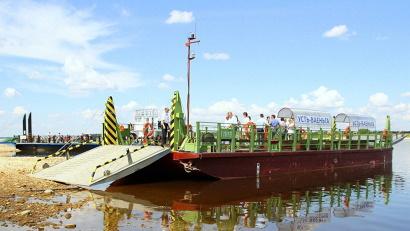 Новая баржа полностью «закрыла» потребность Виноградовского района в речном транспорте на ближайшие 25 лет