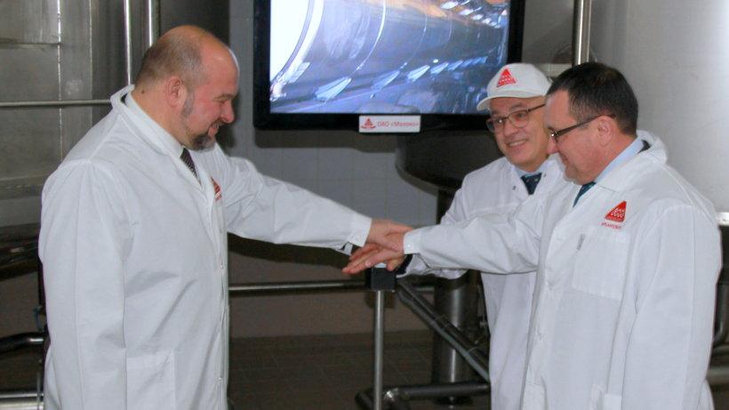 Николай Фёдоров и Игорь Орлов приняли участие в запуске в эксплуатацию нового цеха приёмки сырого молока