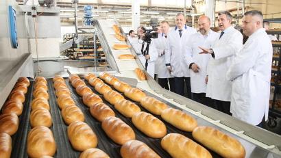 Суточная производительность новой линии – 13,5 тонны хлеба в сутки