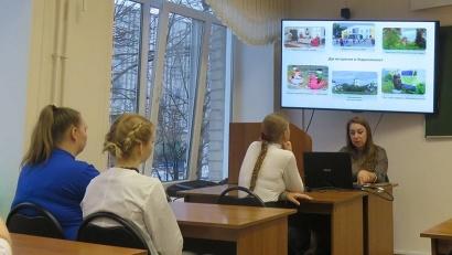 Со студентами встретилась исполняющая обязанности главного врача Каргопольской ЦРБ