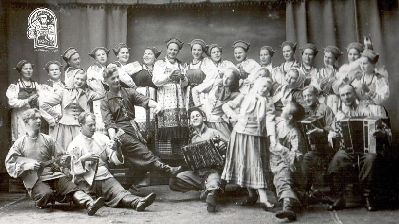 Артисты Северного хора, 1943 год. Фото из архива