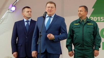 Владимир Буторин, Алексей Гришков и Сергей Шевелёв на открытии чемпионата