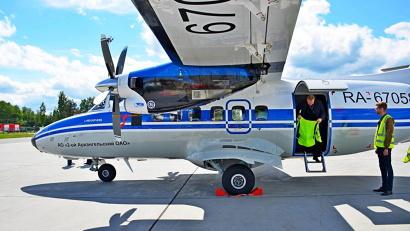 На линии курсируют новые самолёты L-410, только что пополнившие авиапарк 2-го Архангельского объединённого авиаотряда