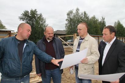 На площадке строительства нового детского сада