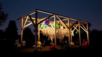 Передать атмосферу Севера одним арт-объектом – такую задачу поставила перед собой творческая команда фестиваля из Архангельской области