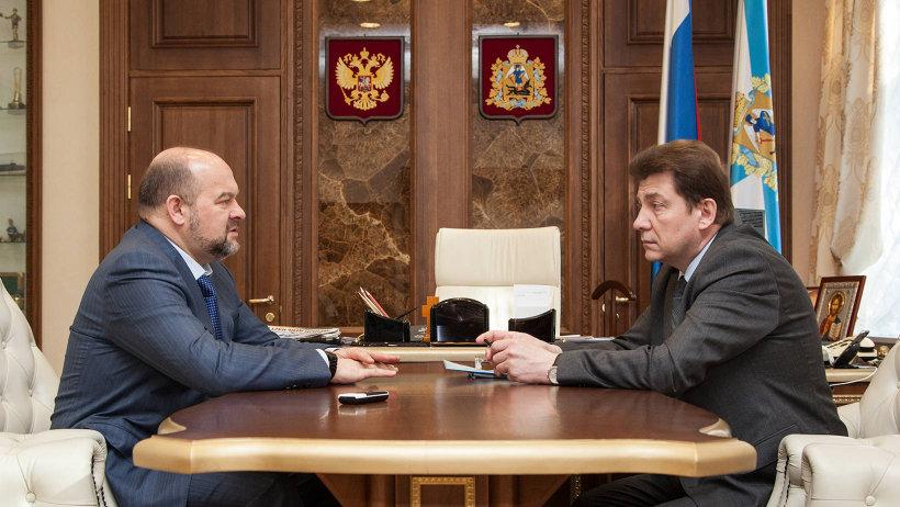 Губернатор и глава города бумажников обсудили совместную работу по целому ряду перспективных проектов развития Новодвинска