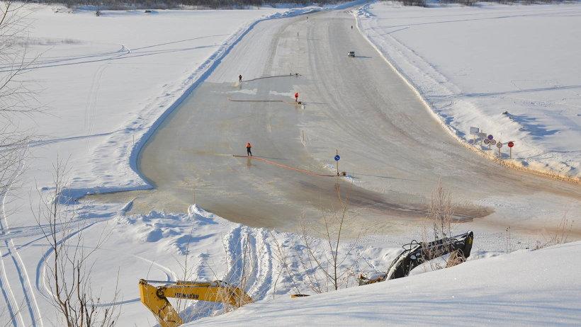 К концу следующей недели планируется открыть все ледовые переправы региональной сети автодорог