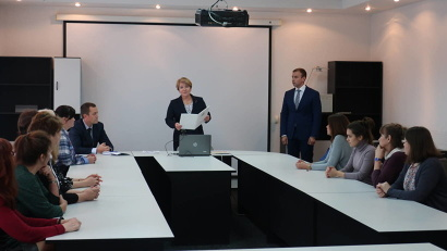 С праздником коллег поздравила министр труда, занятости и социального развития Архангельской области Елена Молчанова