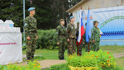 С момента открытия смены весь лагерь называется дивизией, а отряды – батальонами