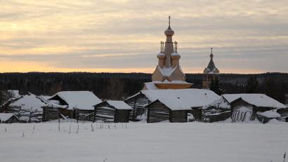 Знаменитая Одигитриевская церковь – один из самых заметных исторических объектов Кимжи