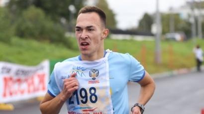 Победитель на дистанции 4 км Владислав Лукша