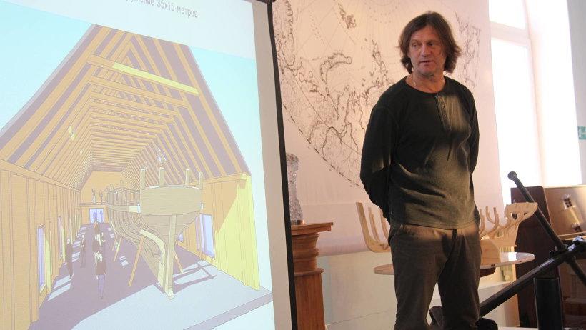 Евгений Шкаруба показал, как будет выглядеть верфь для строительства поморской шхуны