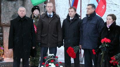 В митинге приняли участие руководители министерств и ведомств областного правительства