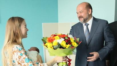 Архангелогородка Анастасия Кабаченко стала первой пациенткой перинатального центра