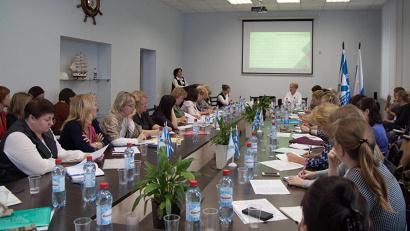 В совещании приняли участие представители всех районов Архангельской области и сотрудники регионального Центра оценки качества образования