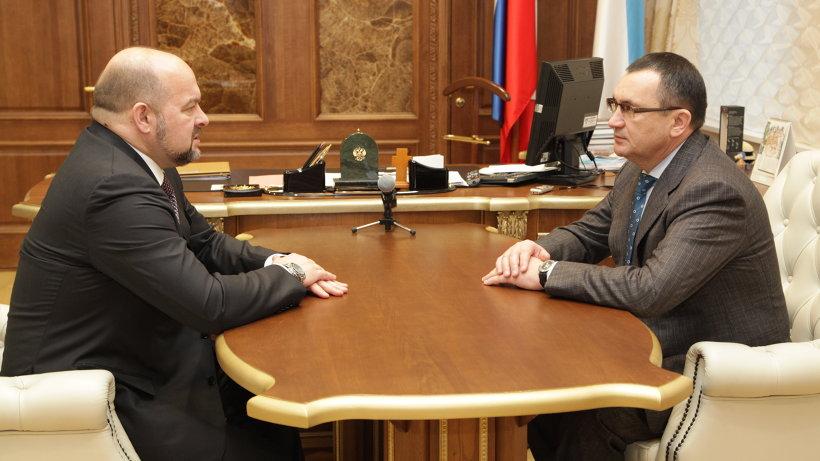 Губернатор Игорь Орлов и министр сельского хозяйства РФ Николай Фёдоров