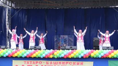 Татаро-башкирский праздник «Сабантуй» в Архангельске всегда проходит ярко и зрелищно