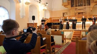 Приятным сюрпризом для гостей мероприятия стал концерт Архангельского филармонического камерного оркестра