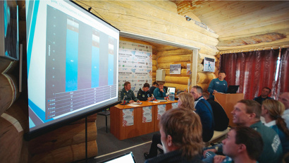 Тренеры отчитались о проделанной работе за сезон 2014-2015 годов, обсудили рабочие вопросы по выступлениям спортсменов и подготовке к следующему сезону