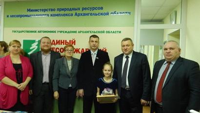 Полина Назарова получила награду за рисунок, наиболее точно отражающий суть конкурса