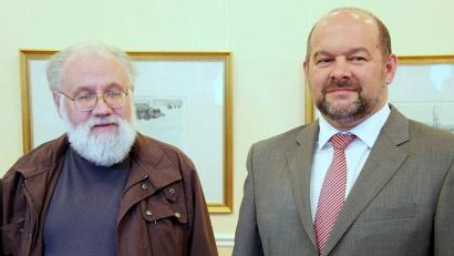 Председатель Центризбиркома РФ Владимир Чуров и врио губернатора Архангельской области Игорь Орлов