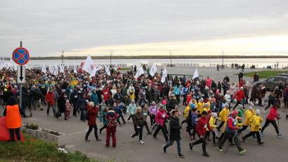 День ходьбы собрал на Красной пристани более тысячи северян