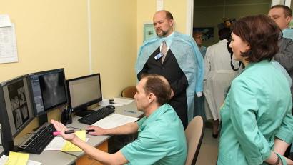 В  лаборатории радионуклидной диагностики. В 2015 году её бесплатно прошли 345 северян