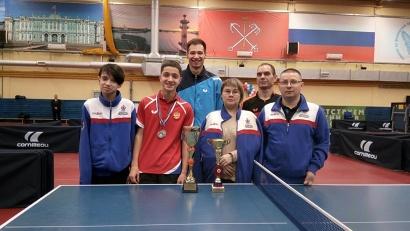 Команда Архангельской области успешно выступила на Кубке России по настольному теннису