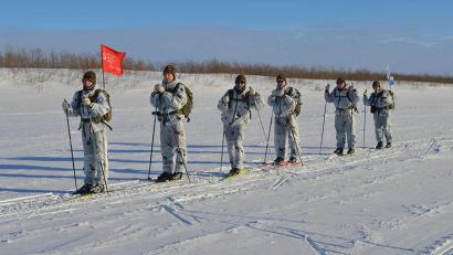 Участники клуба «Белый медведь» на маршруте