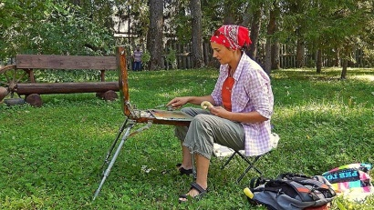 В пленэре на родине Александра Борисова приняли участие двадцать художников из Архангельской и Вологодской областей