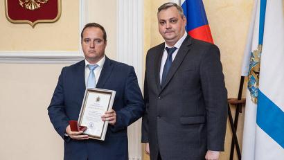От имени губернатора отличившихся северян поздравил председатель правительства Алексей Алсуфьев