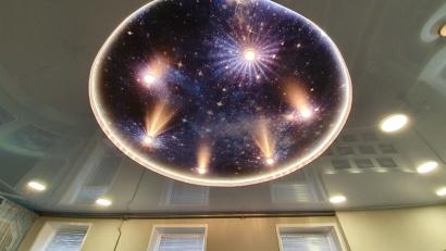 Одна из особенностей проекта - «космическое око» над головами посетителей