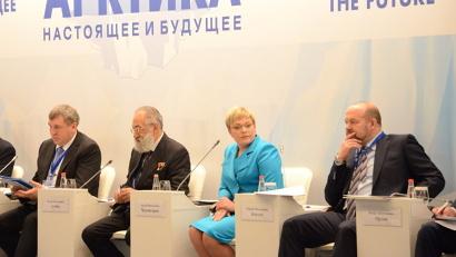 Главными темами для обсуждения на форуме стали социально-экономическое развитие Арктики, ее ресурсный и транспортный потенциал. Фото пресс-службы САФУ