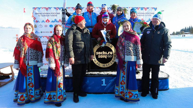 Александр Легков и Сергей Устюгов – чемпионы командного спринта