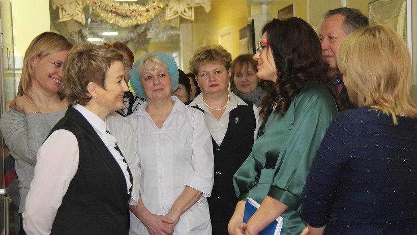 На встрече с работниками социальной сферы Няндомского района. Фото газеты «Авангард»