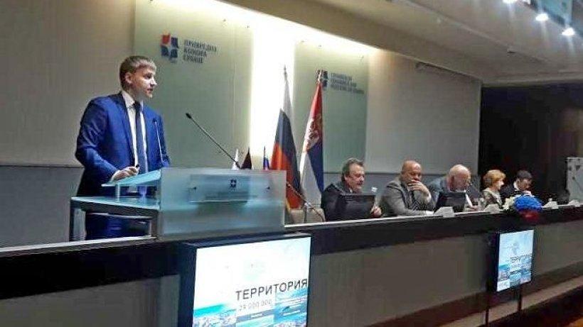 Инвестиционный потенциал Архангельской области представил министр экономического развития региона Семён Вуйменков