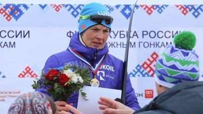 Победительница гонки Наталья Матвеева