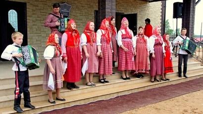 Встреча гостей в селе Березник