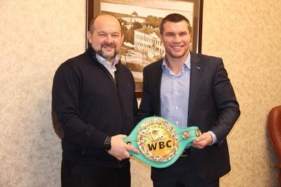 Игорь Орлов и чемпион мира по боксу по версии WBC Григорий Дрозд