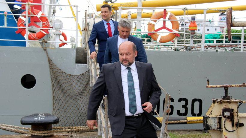 В рыбном порту Архангельского тралового флота Игорь Орлов посетил траулеры «Койда-2» и «Капелан»
