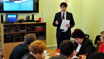 Первым на суд конкурсной комиссии в этом году был представлен профориентационно-образовательный проект «Корабелы будущего»