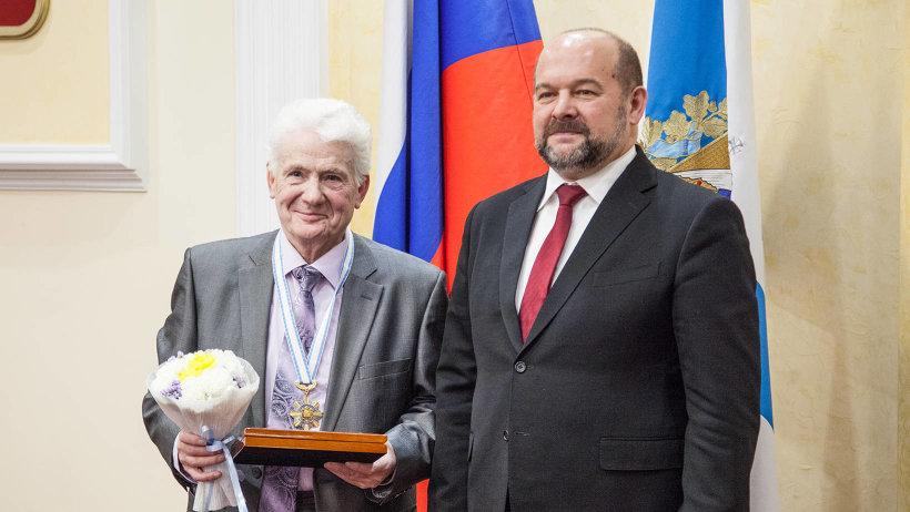 Знаки отличия звания «Почётный гражданин Архангельской области» были вручены Валентину Пролетарскому – легенде тележурналистики Поморья.